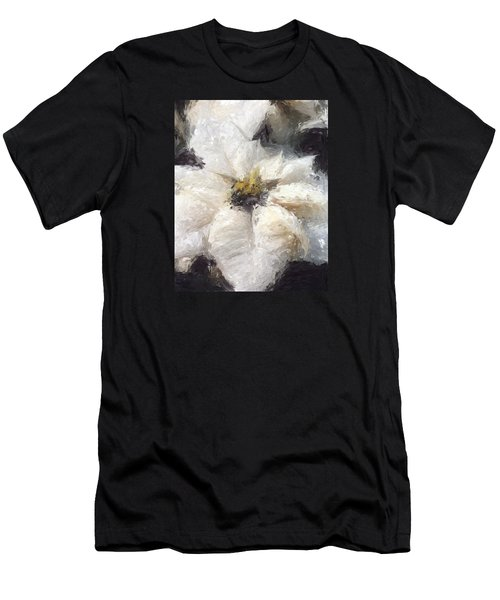 Men's T-Shirt (Athletic Fit) featuring the painting White Poinsettias Christmas Card by Jennifer Hotai