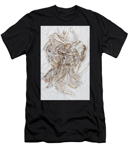 White With Gold Men's T-Shirt (Athletic Fit)