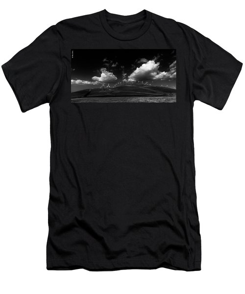 Windmill Electric Power Station Men's T-Shirt (Athletic Fit)