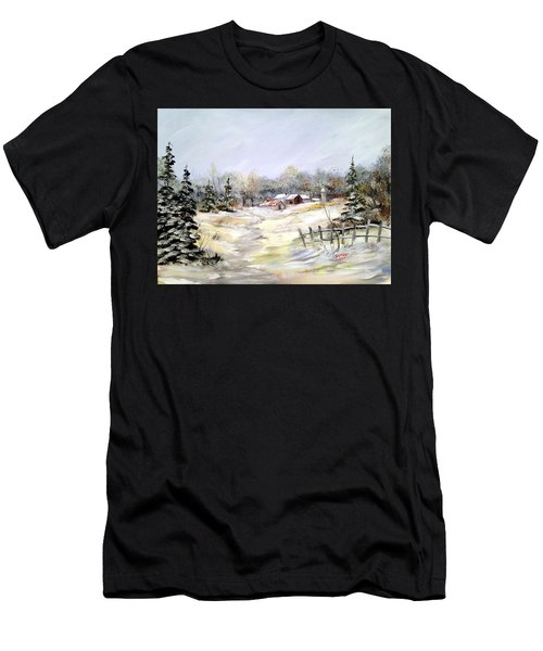 Winter At The Farm Men's T-Shirt (Athletic Fit)
