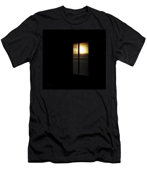 Winter Sunset Men's T-Shirt (Slim Fit) by Cynthia Lassiter