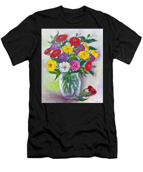 Old Fashioned Zinnias Men's T-Shirt (Athletic Fit)