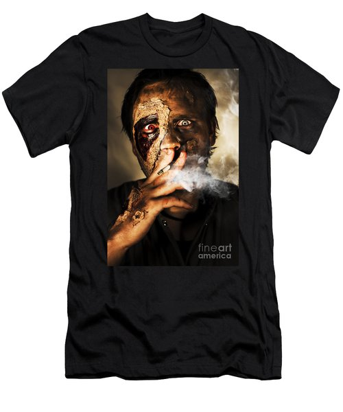 Zombie Killing Some Time Men's T-Shirt (Athletic Fit)
