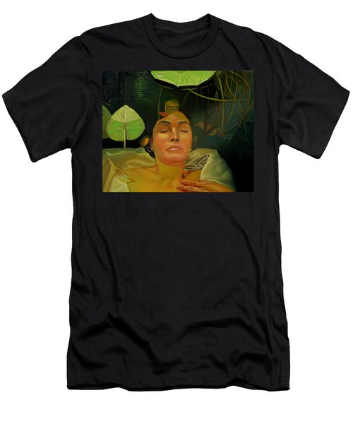 Men's T-Shirt (Slim Fit) featuring the painting 10 30 A.m. by Thu Nguyen
