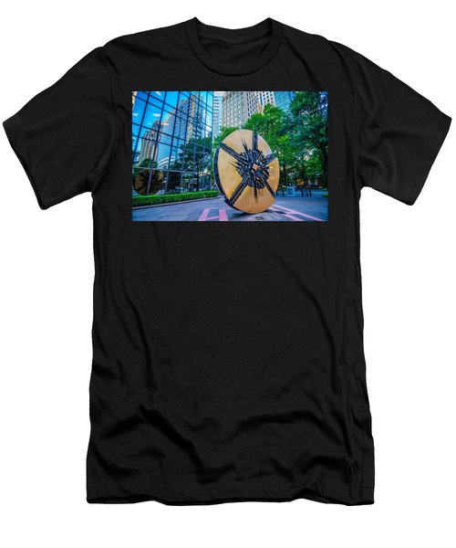 Skyline And City Streets Of Charlotte North Carolina Usa Men's T-Shirt (Athletic Fit)