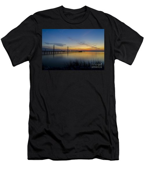 Men's T-Shirt (Slim Fit) featuring the photograph Peacefull Hues Of Orange And Yellow  by Dale Powell