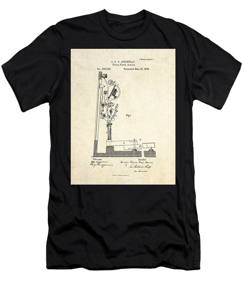 1878 Steinway Piano Forte Action Patent Art  Men's T-Shirt (Athletic Fit)