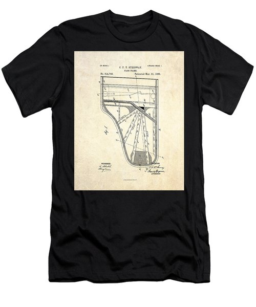 1885 Steinway Piano Frame Patent Art Men's T-Shirt (Athletic Fit)