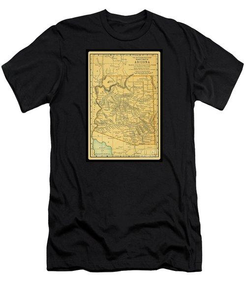 1891 Arizona Map Men's T-Shirt (Athletic Fit)