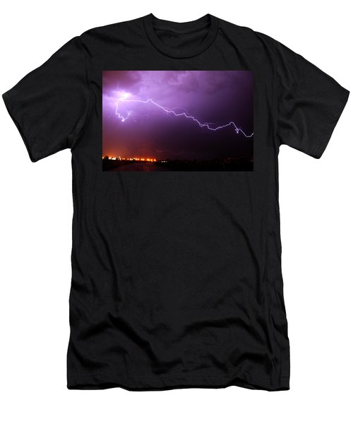 Nebraska Cells Redevloping Over South Central Nebraska Men's T-Shirt (Athletic Fit)