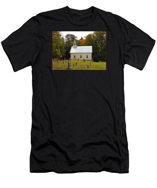 Cade's Cove 1902 Methodist Church Men's T-Shirt (Athletic Fit)