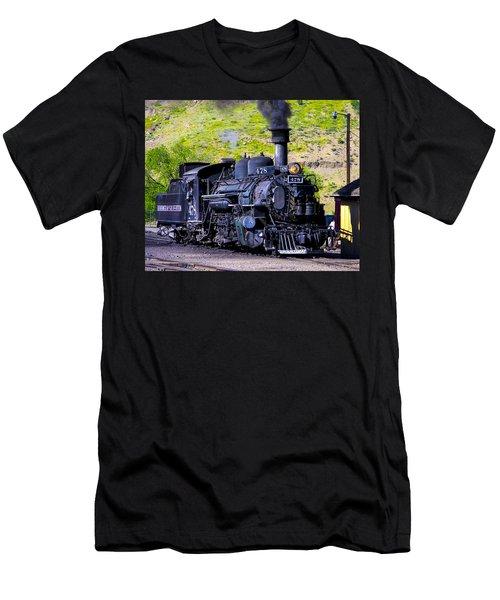 1923 Vintage  Railroad Train Locomotive  Men's T-Shirt (Athletic Fit)