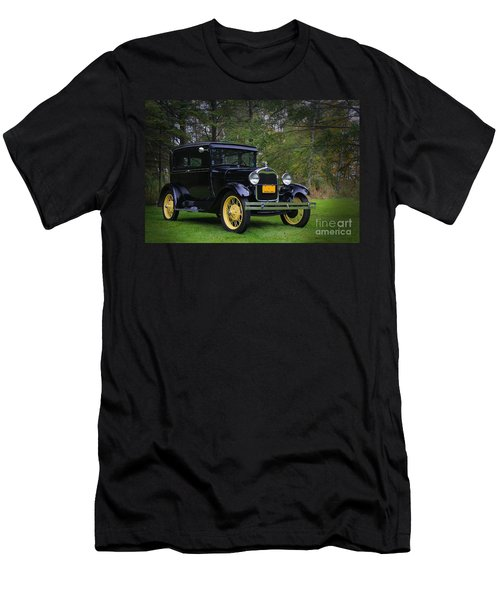 1928 Ford Model A Tudor Men's T-Shirt (Slim Fit) by Davandra Cribbie