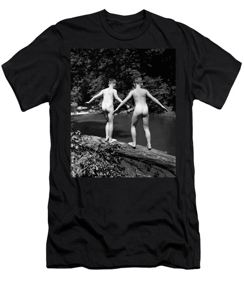 1930s Rear View Pair Naked Skinny- Men's T-Shirt (Athletic Fit)