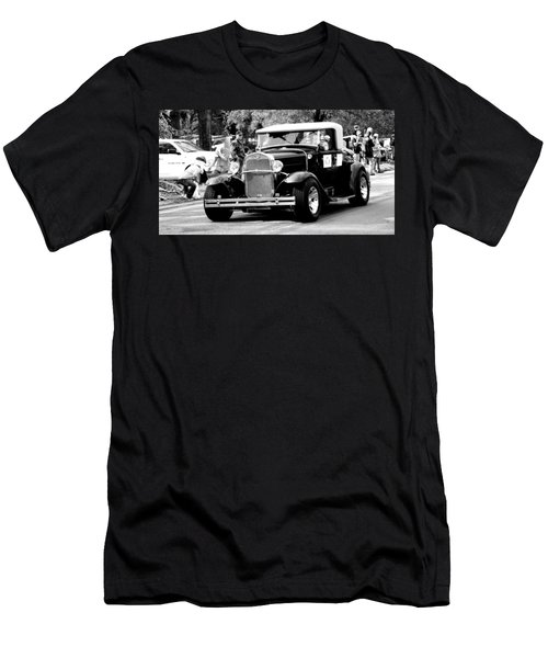 Men's T-Shirt (Slim Fit) featuring the photograph 1934 Classic Car In Black And White by Ester  Rogers