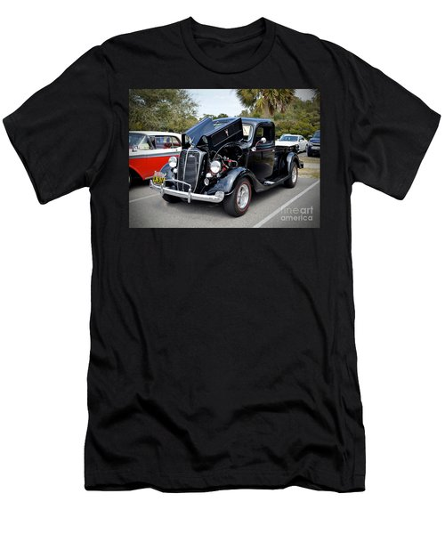Men's T-Shirt (Slim Fit) featuring the photograph 1937 Ford Pick Up by Kathy Baccari
