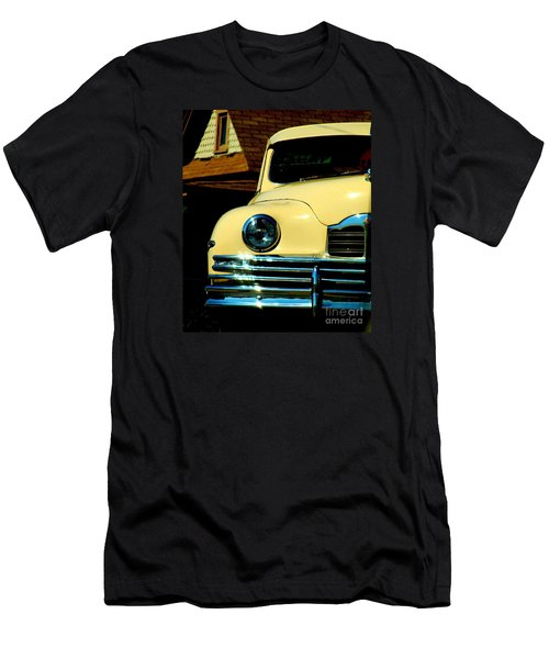 Men's T-Shirt (Slim Fit) featuring the photograph 1950 Yellow Packard by Janette Boyd