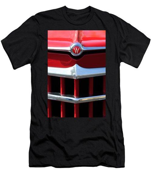 1950 Willys Overland Jeepster Hood Emblem Men's T-Shirt (Athletic Fit)