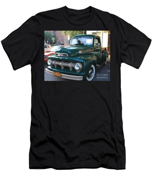 1952  Ford Pick Up Truck Front And Side View Men's T-Shirt (Slim Fit) by John Telfer