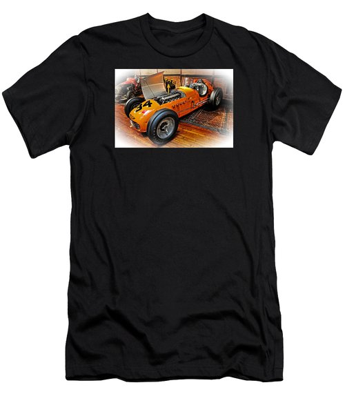 1952 Indy 500 Roadster Men's T-Shirt (Slim Fit) by Mike Martin