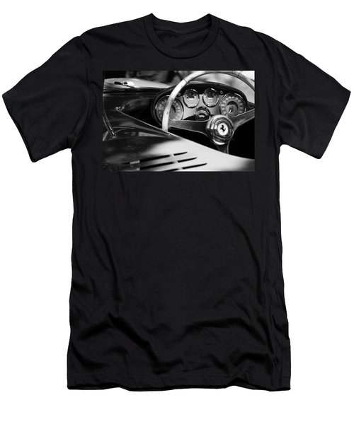 1954 Ferrari 500 Mondial Spyder Steering Wheel Emblem Men's T-Shirt (Athletic Fit)