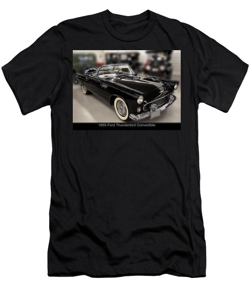 1955 Ford Thunderbird Convertible Men's T-Shirt (Slim Fit) by Chris Flees