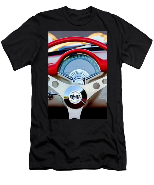 1957 Chevrolet Corvette Convertible Steering Wheel Men's T-Shirt (Athletic Fit)