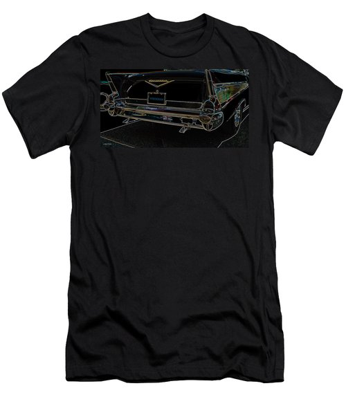 1957 Chevrolet Rear View Art Black_varooom Tag Men's T-Shirt (Athletic Fit)