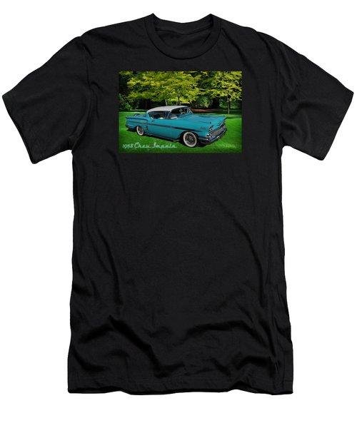 1958 Chev Impala Men's T-Shirt (Slim Fit) by Richard Farrington