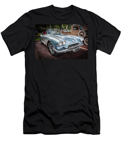 1958 Chevy Corvette Painted Men's T-Shirt (Athletic Fit)