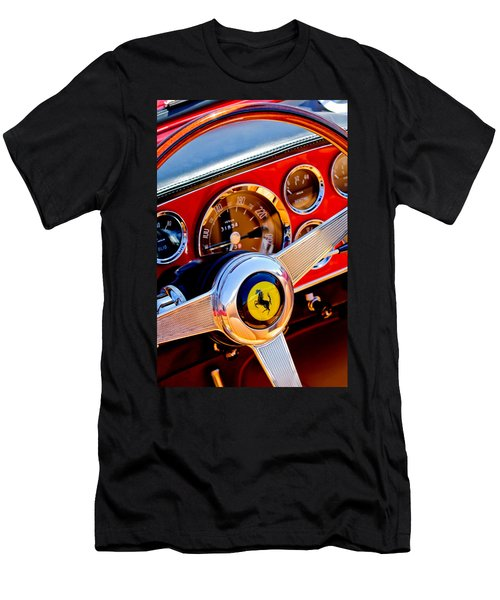 1960 Ferrari 250 Gt Cabriolet Pininfarina Series II Steering Wheel Emblem -1319c Men's T-Shirt (Athletic Fit)