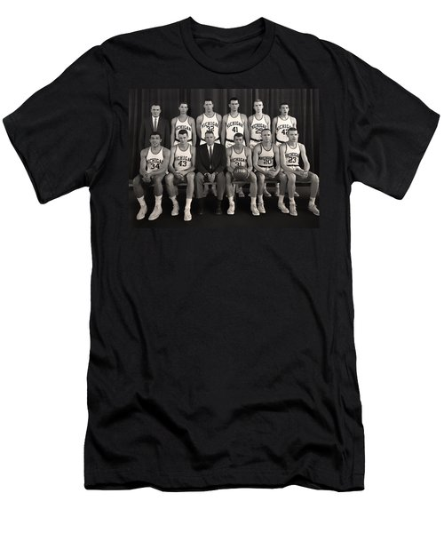 1960 University Of Michigan Basketball Team Photo Men's T-Shirt (Slim Fit) by Mountain Dreams