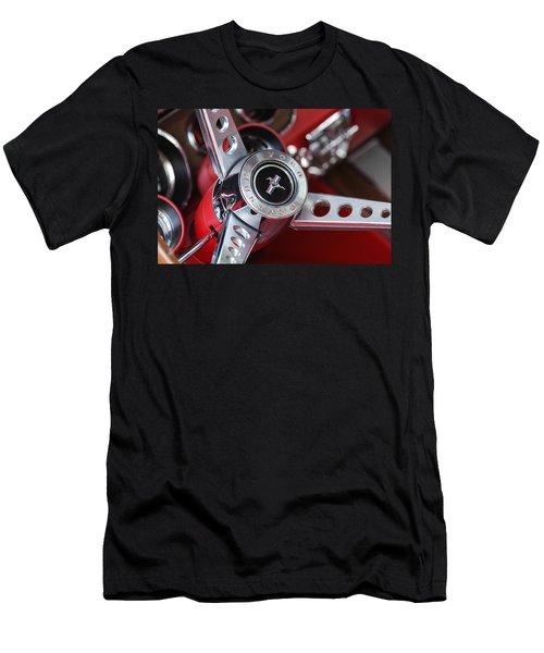 1969 Ford Mustang Mach 1 Steering Wheel Men's T-Shirt (Slim Fit) by Jill Reger