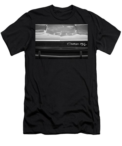 1970 Dodge Challenger Rt Convertible Grille Emblem -0545bw Men's T-Shirt (Athletic Fit)