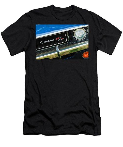 1970 Dodge Challenger Rt Convertible Grille Emblem Men's T-Shirt (Athletic Fit)