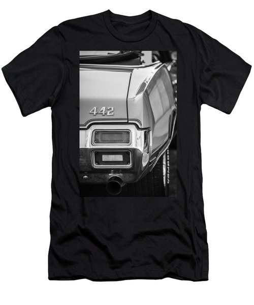 1971 Oldsmobile 442 Convertible Taillight Emblem -1683bw Men's T-Shirt (Athletic Fit)