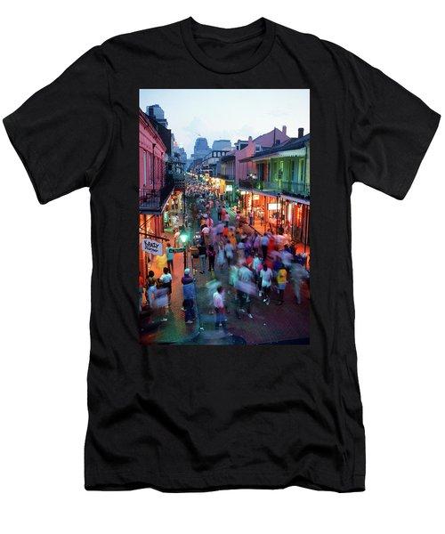 1980s Evening On Bourbon Street New Men's T-Shirt (Athletic Fit)