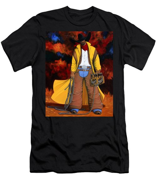 Men's T-Shirt (Slim Fit) featuring the painting 10 Pac by Lance Headlee