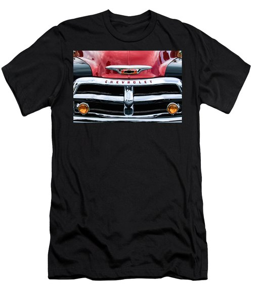 1955 Chevrolet 3100 Pickup Truck Grille Emblem Men's T-Shirt (Slim Fit) by Jill Reger