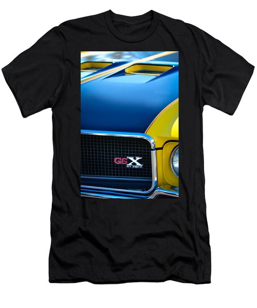 Men's T-Shirt (Athletic Fit) featuring the photograph 1970 Buick Gsx Grille Emblem by Jill Reger