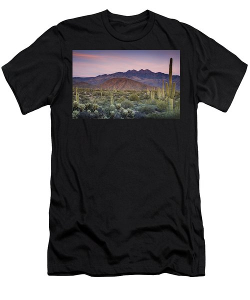 A Desert Sunset  Men's T-Shirt (Athletic Fit)