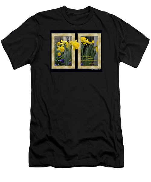 Men's T-Shirt (Slim Fit) featuring the photograph A Merry Heart by Larry Bishop
