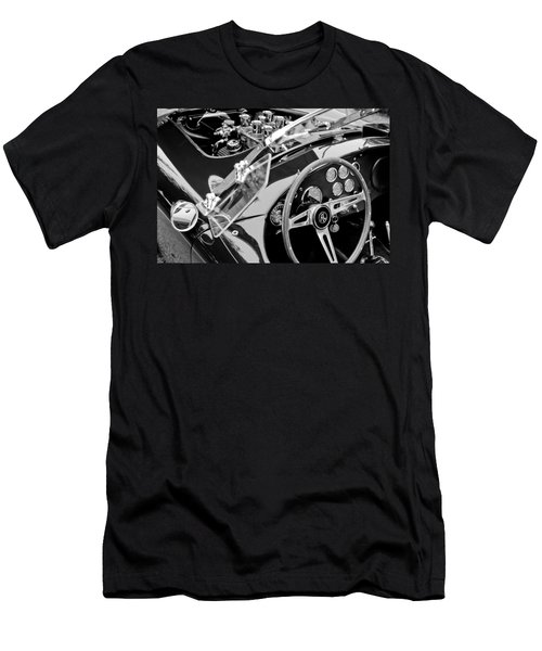 Ac Shelby Cobra Engine - Steering Wheel Men's T-Shirt (Slim Fit) by Jill Reger