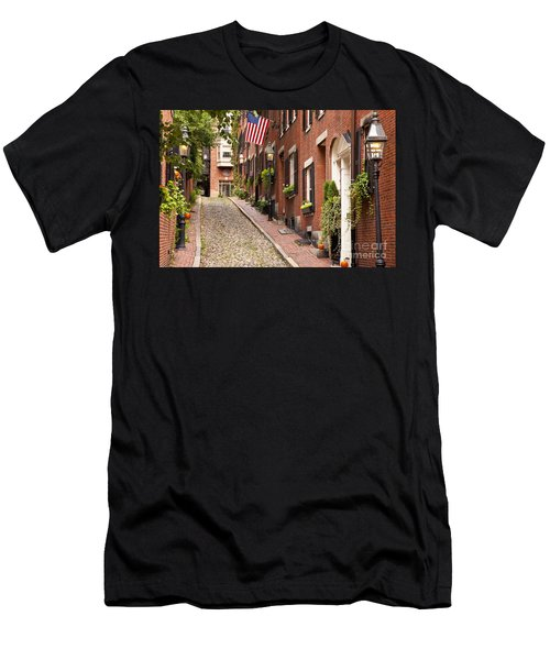 Men's T-Shirt (Athletic Fit) featuring the photograph Acorn Street Boston by Brian Jannsen