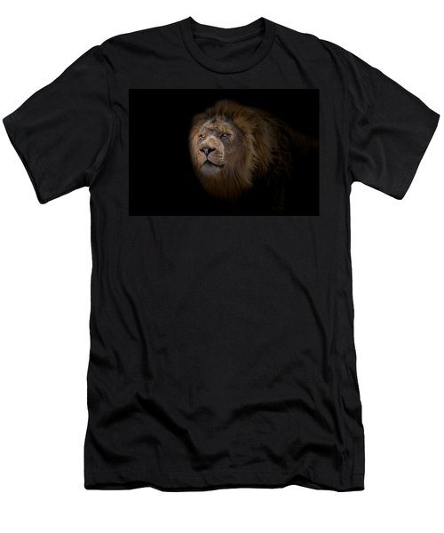 Men's T-Shirt (Slim Fit) featuring the photograph African Lion by Peter Lakomy