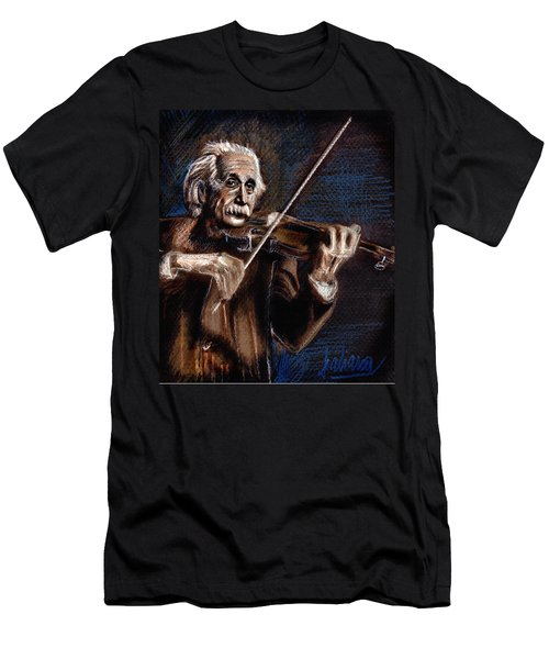 Albert Einstein And Violin Men's T-Shirt (Athletic Fit)