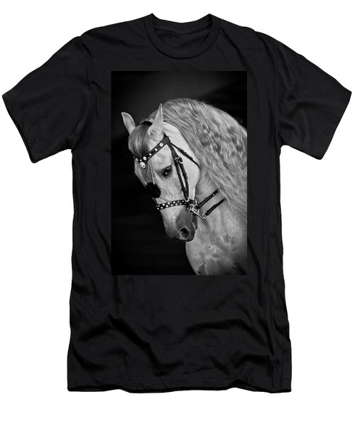Men's T-Shirt (Slim Fit) featuring the photograph Andalusian D9098 by Wes and Dotty Weber
