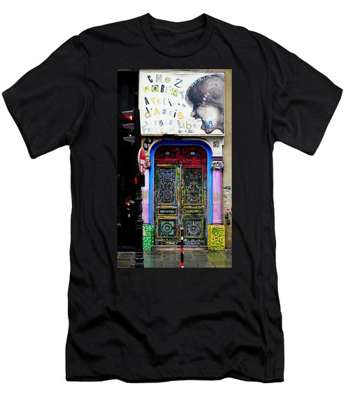 Artistic Door In Paris France Men's T-Shirt (Athletic Fit)