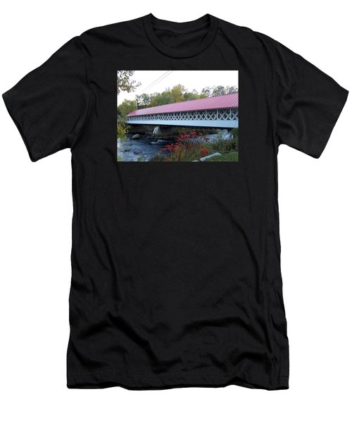 Ashuelot Covered Bridge Men's T-Shirt (Slim Fit) by Catherine Gagne