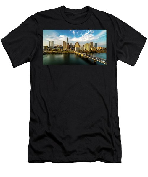 Austin, Texas - Austin Cityscape Men's T-Shirt (Athletic Fit)